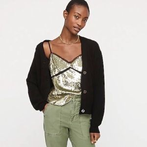 J Crew Collection Sequined Tulle Camisole ~ NWT